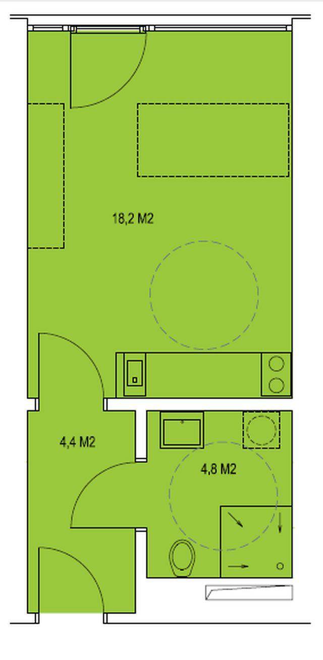 budova A, byt A 27,2m