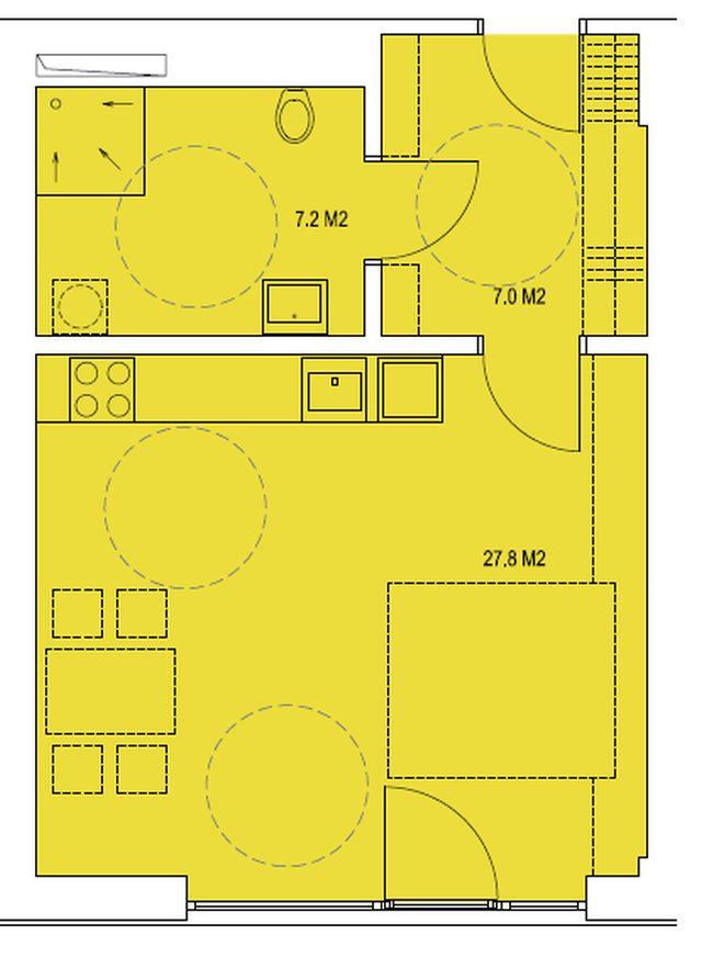budova A, byt B 42m2