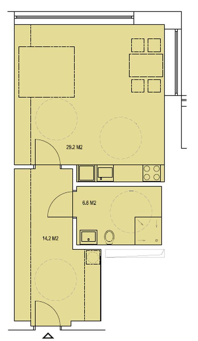 budova A, byt H 50,1m