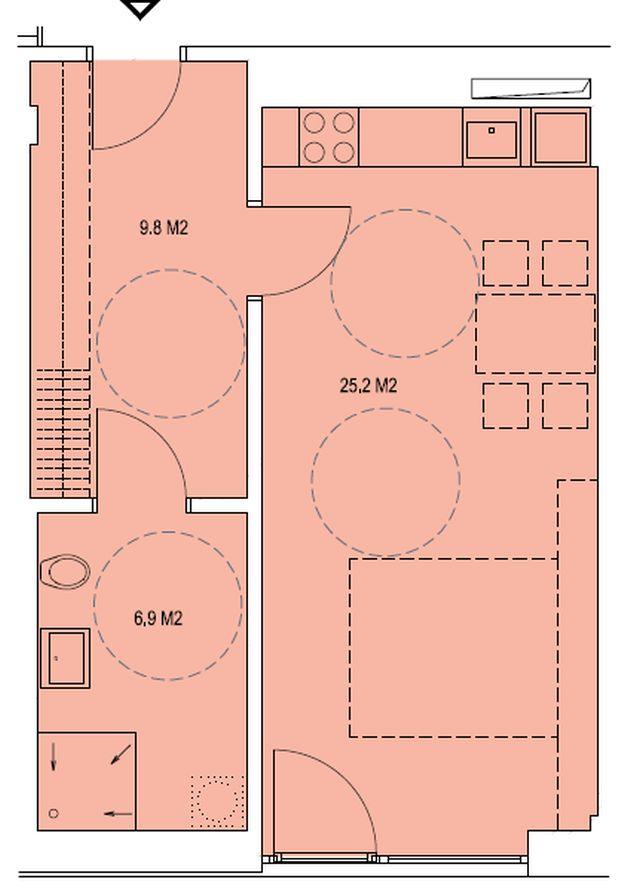 budova A, byt L 41,9m