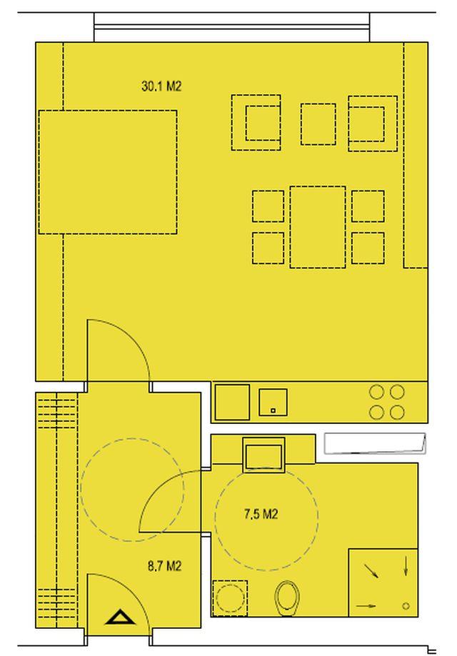 budova B, byt N2 46,3 m2