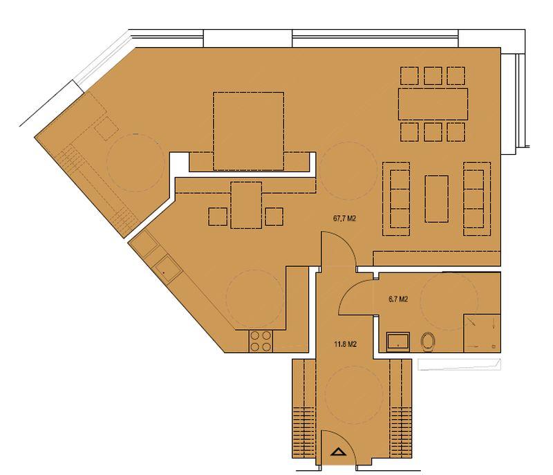 budova A, byt I 86,2m