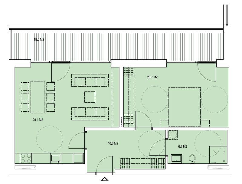 budova A, byt J 67,2 m + terasa