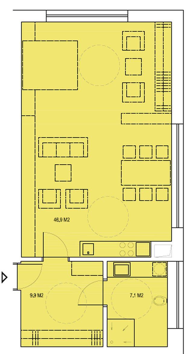 budova B, byt P 63,9 m