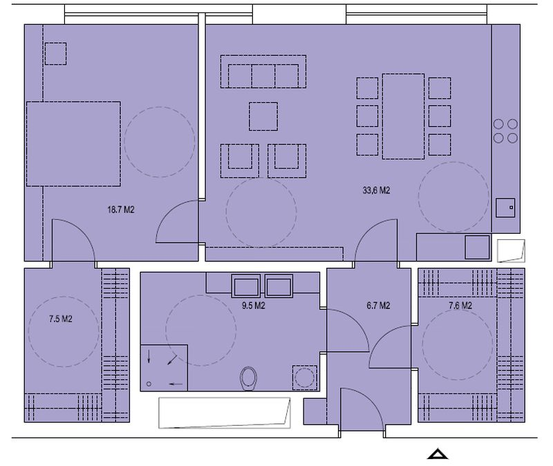 budova B, byt R2 83,6m