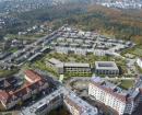 umístění budovy - letecký pohled